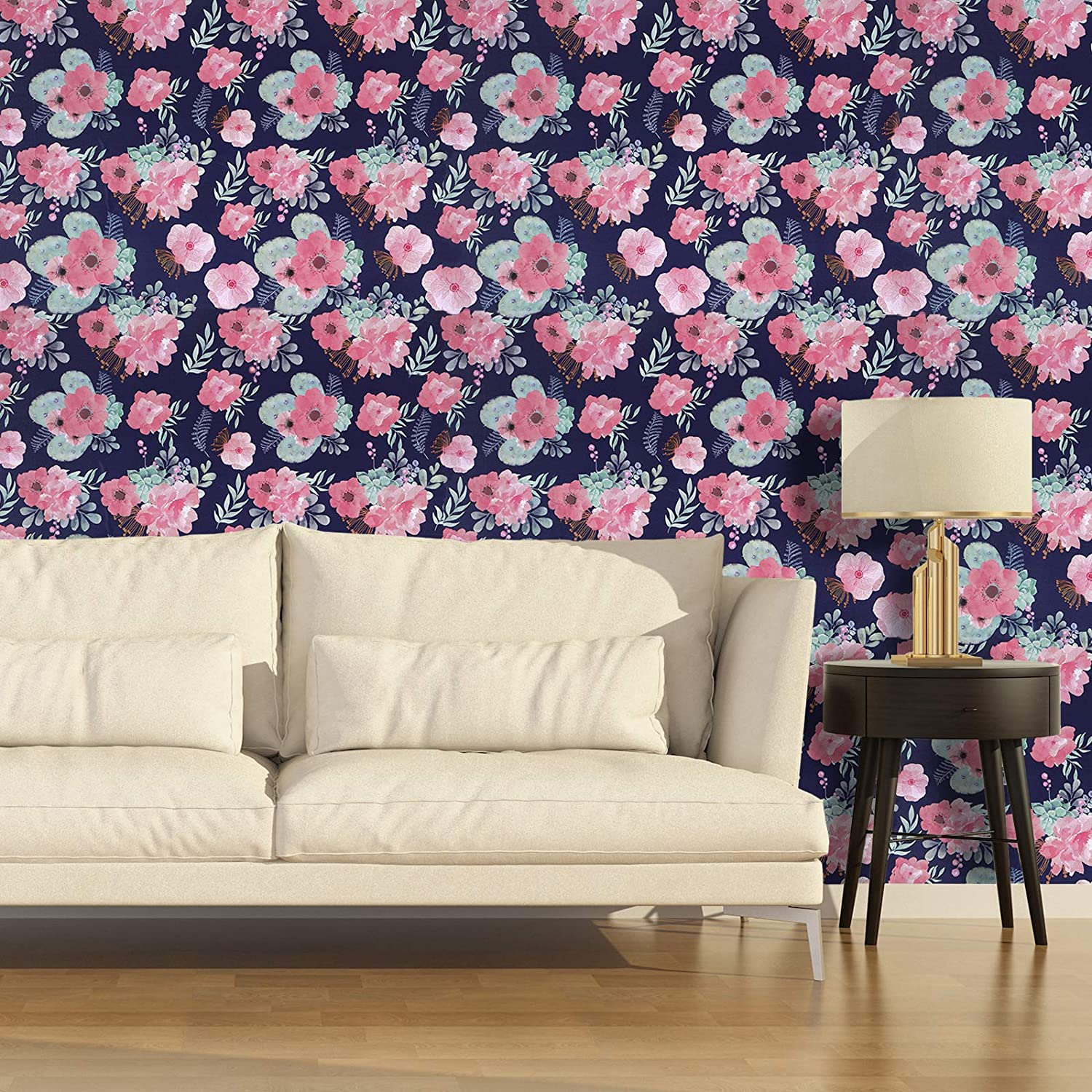 Buy Caltero Floral Wallpaper 17 7 X 118 Watercolor Flowers Wallpaper Peel And Stick Contact Paper Multicoloured Perennial Blooms Wallpaper Vinyl For Living Room Bedroom Countertop Cabinet Online In Germany B08hrvfb5c