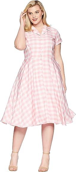 Unique Vintage Plus Size Alexis Short Sleeve Swing Dress