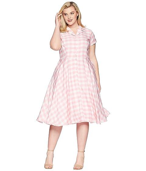 Unique Vintage Plus Size Alexis Short Sleeve Swing Dress At Zappos