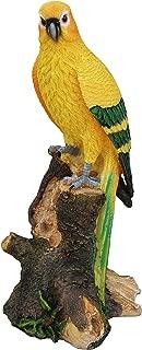 TABOR TOOLS Parrot Statue Ornament, Decorative Tropical Bird, Terrace Figurine, Miniature Statue, Outdoor Decor, Cute Patio Figure, Sculpture for Your Garden, Home or Office. DM404A. (Parrot)