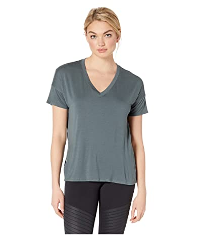 Beyond Yoga Side Splits V-Neck Tee (Dark Tropic) Women