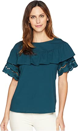 Brynlee Lace Trim Tee