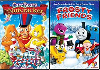 Care Bears The Nutcracker & Frosty Friends Thomas the Train / Barney &Bob the Builder Double Feature Animated cartoon Holiday 2-pack