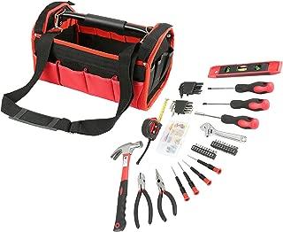 Olympia Tools 83-142 Red & Black Tool Bag Set (56 Piece)
