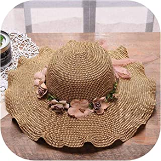 2019Spring and Summer with Ms Lei Han Edition Outdoor Sun Hat Wide Brim Hats Hand Lotus Vacation Straw Hat