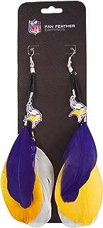 NFL Minnesota Vikings Feather Earrings