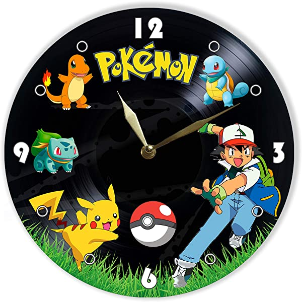 MiraG Pokemon Painted Vinyl Clock Pokemon Wall Clock Unique Gifts For Fans Pokemon The Best Home Decor