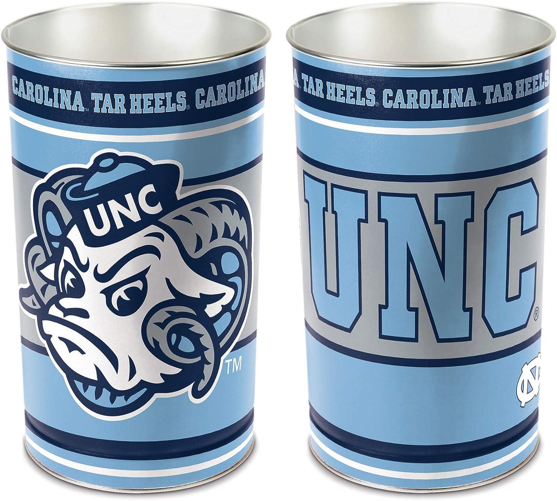 Team Effort NCAA Wastebasket, Unisex-Adult, Team Effort North Carolina Tar Heels Wastebasket, 9796115, Multicolor, 16 x11