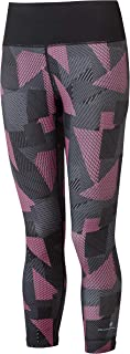 Ronhill Womens Life Crop Tight, Black/HotPink Laser