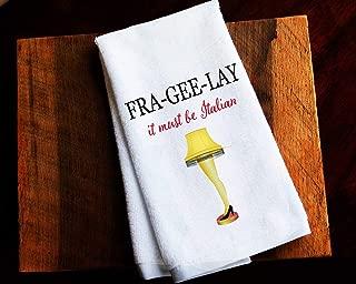Funny Kitchen Towel Christmas Story Fragile Leg Lamp