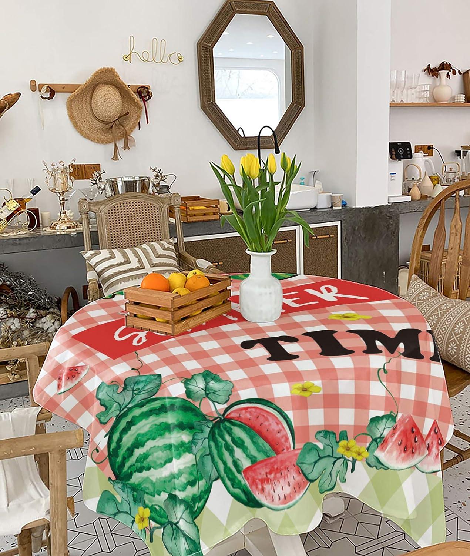 Square shipfree Tablecloth 5 ☆ popular 54x54 inch Waterproof Heatproof Rustic Cotton