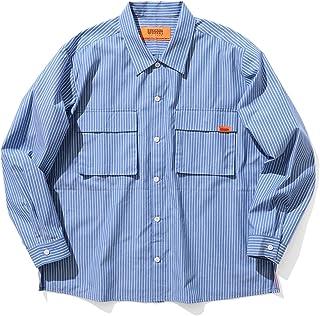 [ビームス] ワイシャツ カジュアルシャツ UNIVERSAL OVERALL × BEAMS 別注 ルーズ ユーティリティ ワークシャツ メンズ