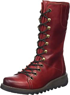 Womens Black Ster768Fly Leather Boots