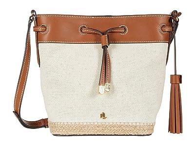 LAUREN Ralph Lauren Dryden Drawstring Canvas Espadrille Debby II Mini (Natural) Handbags