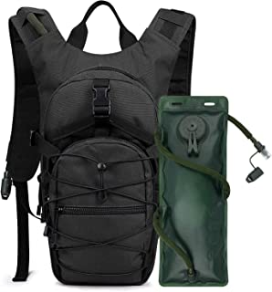 Moonmen Hydration Pack Tactical Backpack Rucksack with 3L Water Bladder for Hiking Cycling Biking Running Walking and Clim...