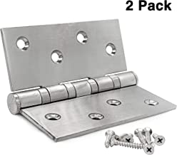 Earl Diamond Brushed Stainless Steel Hinges, 4