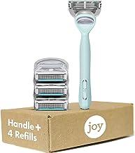joy Women's Razor Handle + 4 Razor Blade Refills, Teal