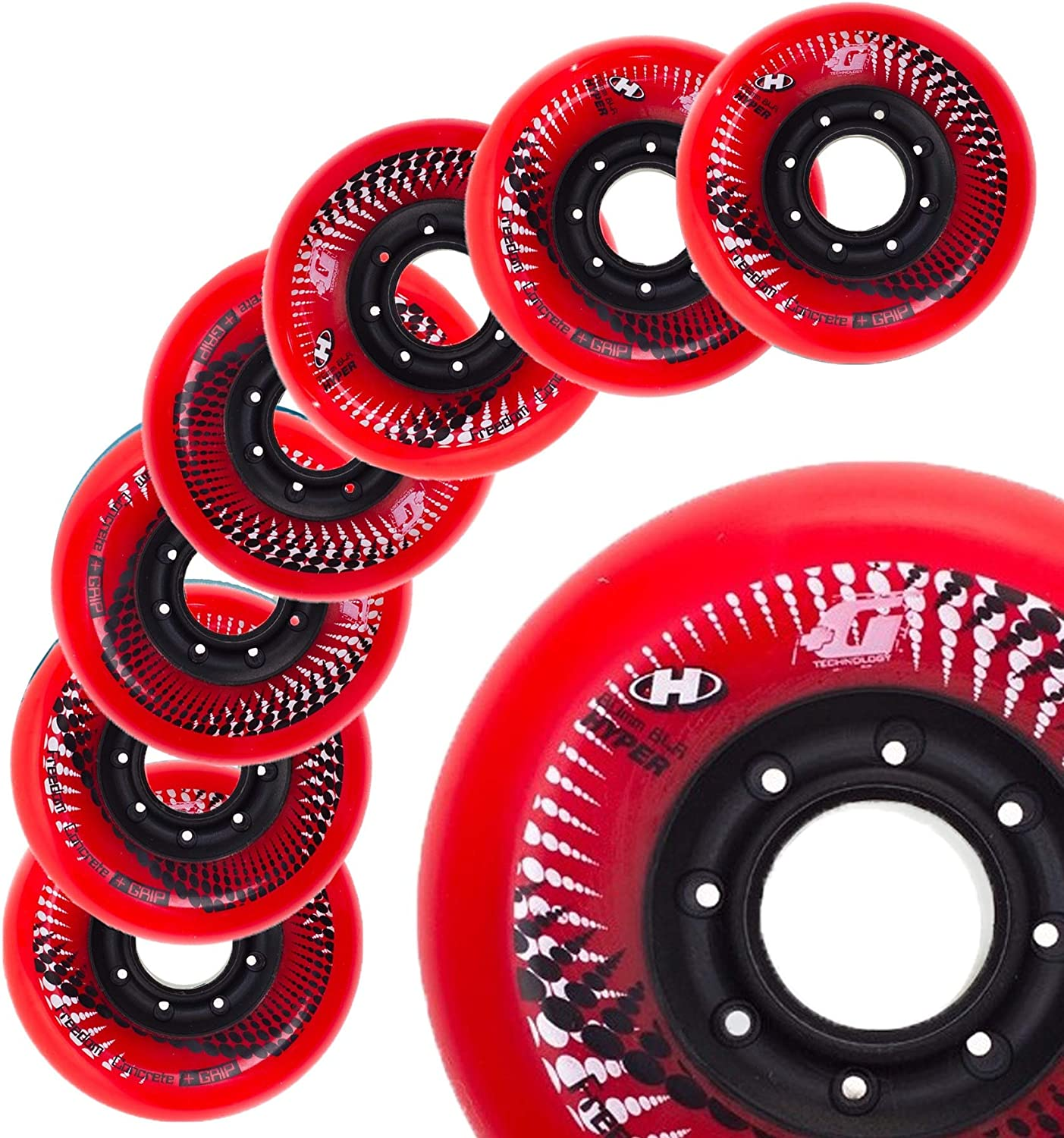 N1 Inline Skate Wheels in The World 84A for Fitness Slalom 80MM Sizes 72MM 76MM Hyper Wheels Concrete +G 8 Wheels Freeride Urban