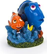 Disney's Finding Dory, Dory & Marlin with Blue Coral Reef on Sea Weed Aquarium Ornament