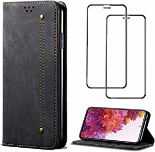 Wallet Phone Case for Huawei P smart S Retro Cover Flip Over With Card Slot Kickstand RFID Blocking Magnetic Leather Case...