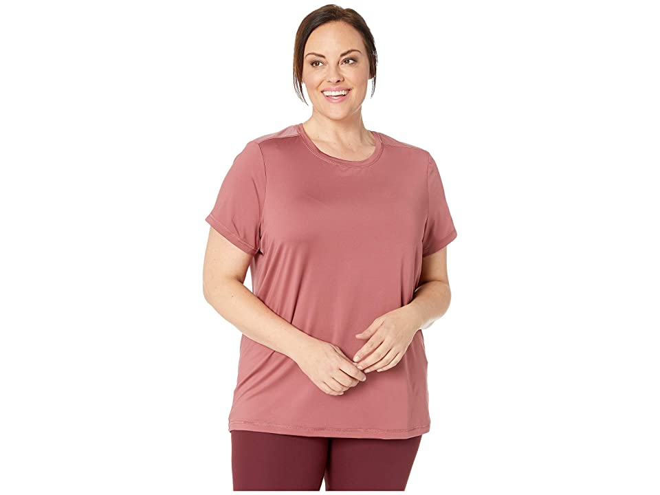 SHAPE Activewear Plus Size Wishbone Tee (Roan) Women