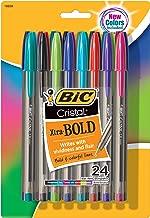 BIC vidrio Xtra Bold bolígrafo, Bold Point (1.6mm), colores surtidos, 24unidades