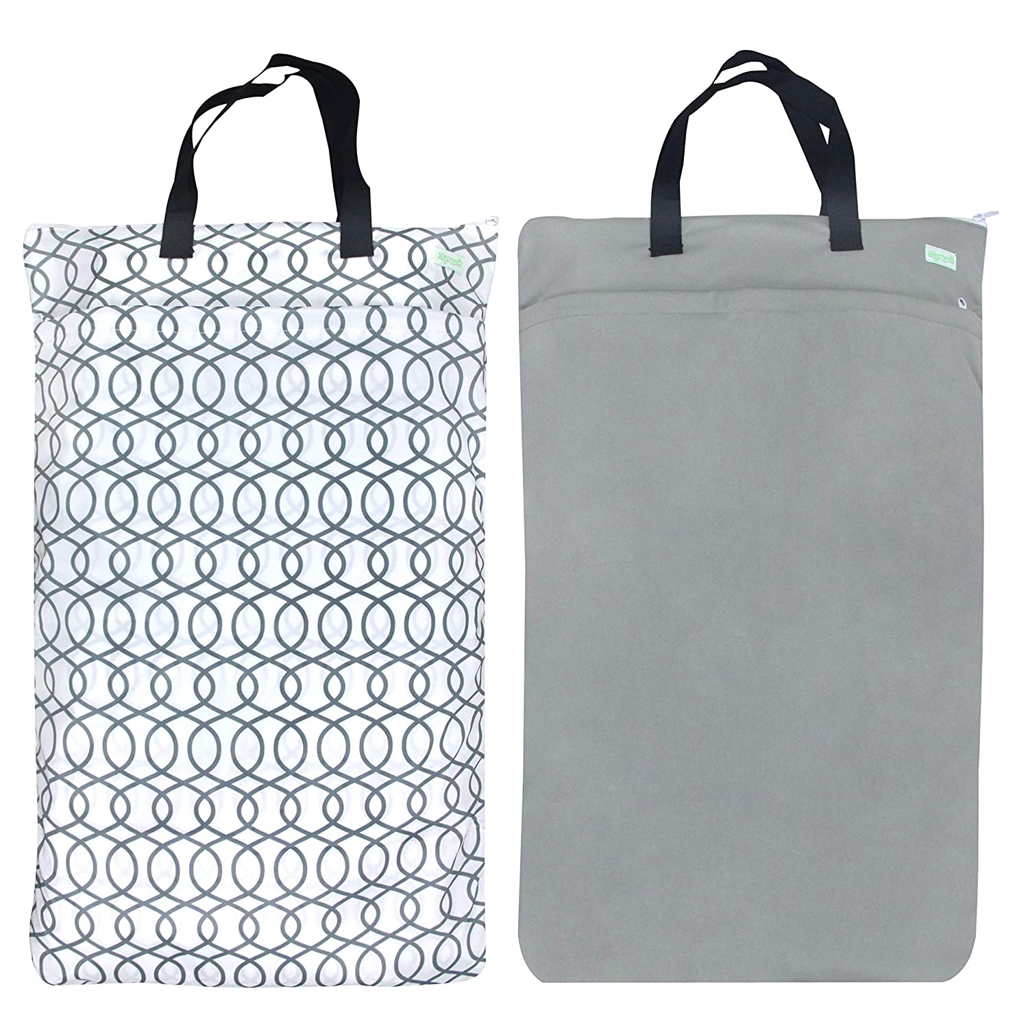 Wegreeco Reusable Hanging Wet Dry Cloth 2 Bag Pack Diaper Max 60% OFF It is very popular Grey