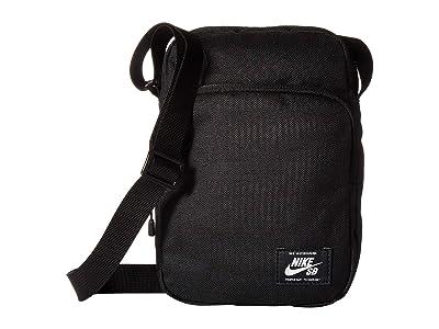 Nike Heritage Small Items Bag (Black/Black/White) Handbags