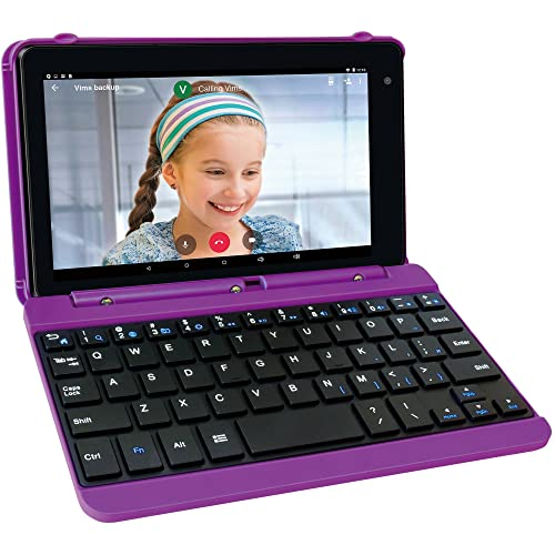 RCA Voyager Pro 7 16GB Tablet with Keyboard Case Android 6.0 (Marshmallow) in Purple