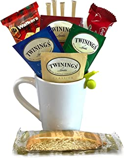 Tea Gifts – Includes Black Tea Bags, Tea Mug, Tea Bag Holder, Cookies, More – Tea Gift Set (Hot Tea – Black Tea)