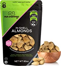 In Shell Almonds - Raw, Whole, Superior to Organic (80oz - 5 Pound) Packed Fresh in Resealble Bag - Nut Trail Mix Snack - ...