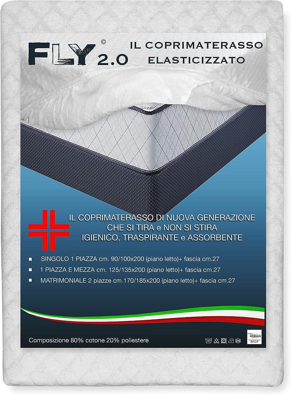 Elastico su Tutto Il perimetro Very Important Pillow Coprimaterasso Jacquard in Cotone Fasciato V.I.P 125 x 200 Piazza e Mezza