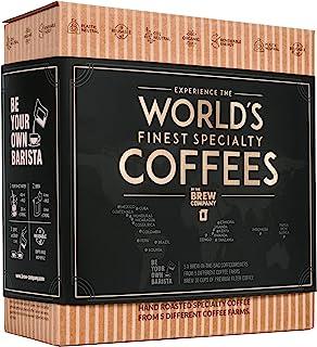 Koffie Assortiment Cadeau Voor Mannen & Vrouwen - 5 Unieke Koffiezakjes Set Met Gemalen Koffie Uit De Hele Wereld Voor Kof...