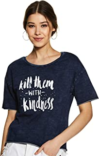 Jealous 21 Women's Plain Regular Fit T-Shirt
