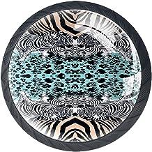 Lade handgrepen trekken voor thuis keuken dressoir garderobe, Zebra Leopard Print Art