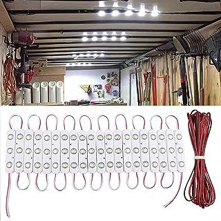 Linkstyle 60 LED Auto Innenbeleuchtung DC 12V Einbauleuchte Autoinnenbeleuchtung Leuchtet mit Verlängerungskabel für Wohnmobil Bus Boot Caravan Wohnmobil   Weiß   20 Modules [Energieklasse A++]