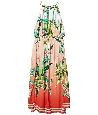 Trina Turk Costa De Prata High Neck Keyhole Midi Dress Swimsuit Cover-Up (Multi) Women