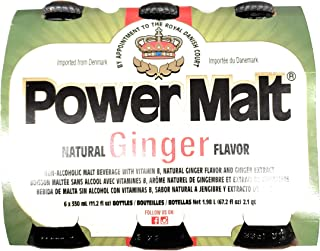 Power Malt Natural Ginger Flavor 11.2 Oz (6 Pack)