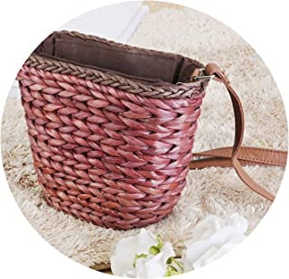 2019 Women Vintage Beach Straw Bag Ladies Handmade Woven Rattan Messenger Handbag Summer Bali Bohemian Crossbody Shoulder Bag