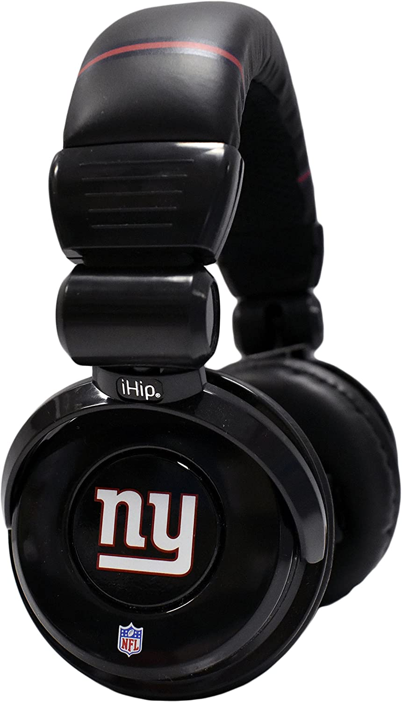 iHip Official Giants Noise Isolation Pro DJ Quality Headphones! Detachable Cord - Built-In Microphone With Volume Control - Quality Headphones for any Giants Fan!