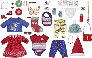 Zapf Creation 828472 BABY Born adventskalender met 24 kleding- en accessoireverrassingen voor BABY Born, poppenaccessoire...
