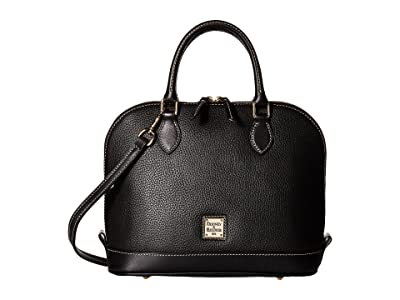 Dooney & Bourke Pebble Zip Zip Satchel (Black/Black) Satchel Handbags