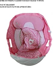 Replacement Seat Pad/Cushion/Cover with Headrest for Fisher-Price Butterfly Garden Papasan Cradle 'n Swing (Model K7923) with Date of Manufacture After 9/1/2011