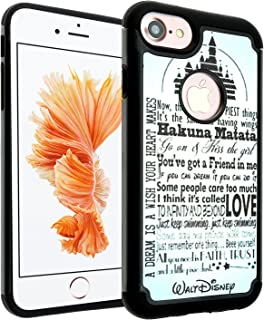 iPhone SE Case, IMAGITOUCH 2-Piece Style Armor Case with Flexible Shock Absorption Case and Disney Love Dream Quotes Cover for iphone 5S 5 SE – Vintage Disney Quotes Hybrid