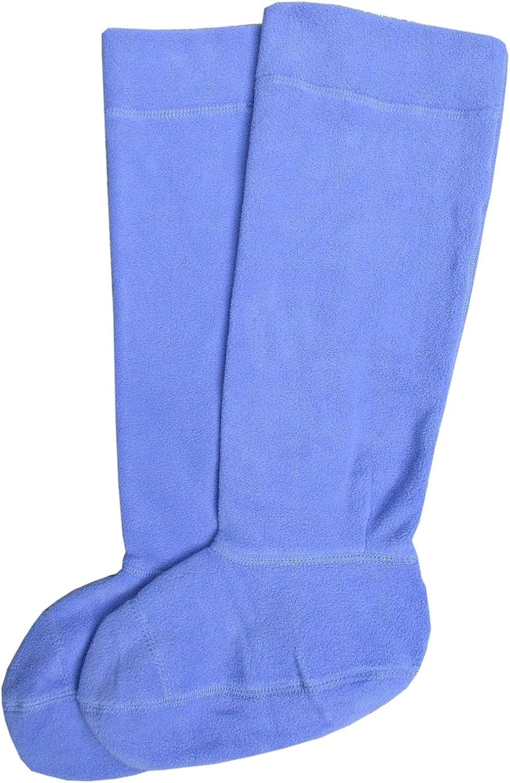 Regatta Womens Fleece Welly Sock Worn Inside the Wellington Fleece Cuff Folds Neatly Lightweight Fleece Socks