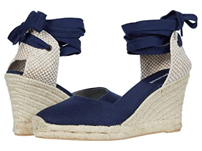 Soludos Tall Wedge Espadrille (Midnight Blue) Women