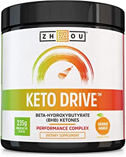 Nutraceutical Keto Drive Exogenous Ketone Performance Complex - BHB Salts - Formulated for Ketosis, Energy and Focus - Patented Beta-Hydroxybutyrates (Calcium, Sodium, Magnesium) - Orange Mango