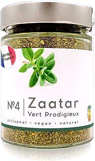 Real Zaatar Premium, Fresco, Delicioso y muy fragante - N.4 Vert Prodigieux 100g - Za'atar con solo 1% de sal Zatar