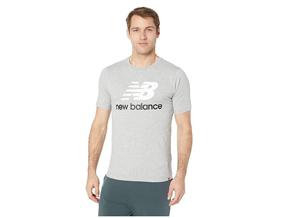 New Balance Essentials Stacked Logo Tee (Athletic Grey) Men