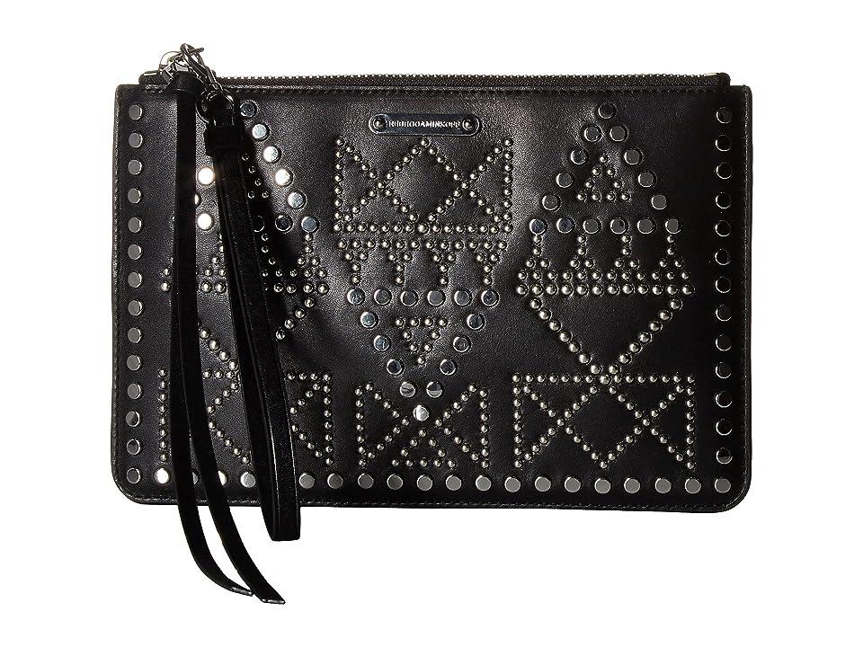 Rebecca Minkoff Wristlet Pouch (Black 2) Wallet Handbags
